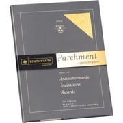 SOUTHWORTH® Parchment Specialty Paper, 8 1/2 x 11, 24 lb., Parchment Finish, Gold, 100/Box