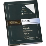 SOUTHWORTH® Linen Business Paper, 8 1/2 x 11, 32 lb., Linen Finish, White, 250/Box