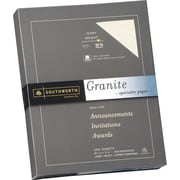 SOUTHWORTH® Granite Specialty Paper, 8 1/2 x 11, 32 lb., Granite Finish, Gray, 100/Box