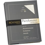 SOUTHWORTH® Parchment Specialty Paper, 8 1/2 x 11, 32 lb., Parchment Finish, Ivory, 250/Box