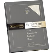 SOUTHWORTH® Parchment Specialty Cover Stock, 8 1/2 x 11, 65 lb., Parchment Finish, Ivory, 0/Box