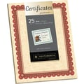 Southworth® 24 lb. Parchment Certificates, Copper/Burgundy
