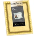 Southworth® 24 lb. Parchment Certificates, Gold/Green