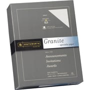 SOUTHWORTH® Granite Specialty Paper, 8 1/2 x 11, 24 lb., Granite Finish, Gray, 500/Box