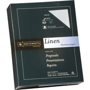 "SOUTHWORTH Linen Business Paper, 8 1/2"" x 11"", 24 lb., Linen Finish, White, 500/Box"