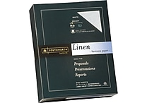 SOUTHWORTH Linen Business Paper, 8 1/2' x 11', 24 lb., Linen Finish, White, 500/Box