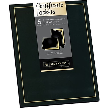 Southworth® Black and Gold Certificate Jacket