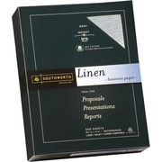 SOUTHWORTH® Linen Business Paper, 8 1/2 x 11, 24 lb., Linen Finish, Gray, 500/Box