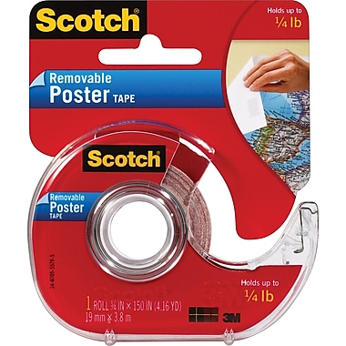 Scotch Removable Poster Tape, 3/4