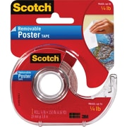 "Scotch Removable Poster Tape, 3/4"" x 150"", 1"" Core"