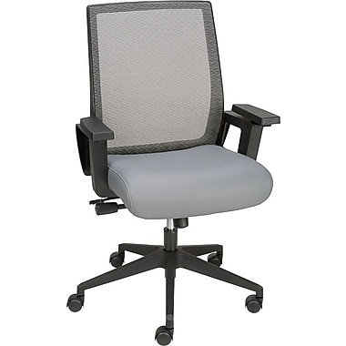 Staples Elsin Mid-Back Luxura Task Chair, Gray
