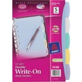 Avery 5-1/2in. x 8-1/2in. Mini Durable Write-On Index Tab Dividers, 5-Tab, 1 Set/Pack