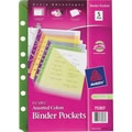 Avery® 5-1/2in. x 8-1/2in. Assorted Binder Pockets