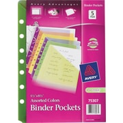 "Avery® 5-1/2"" x 8-1/2"" Assorted Binder Pockets"