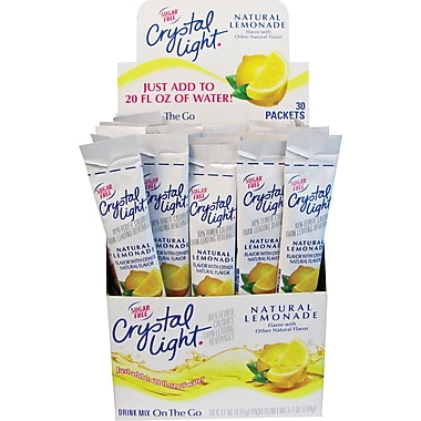 Crystal Light® On the Go, Lemonade, .17 oz., 30 Packets/Box