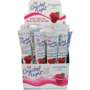Crystal Light® On the Go, Raspberry, .08 oz., 30 Packets/Box