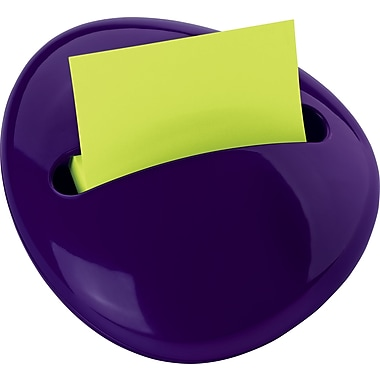 Post-it® Pop-up Pebble Dispenser, Purple