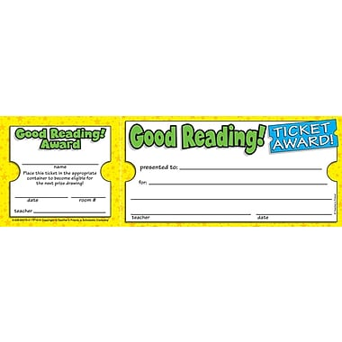 Scholastic Good Reading Ticket Awards