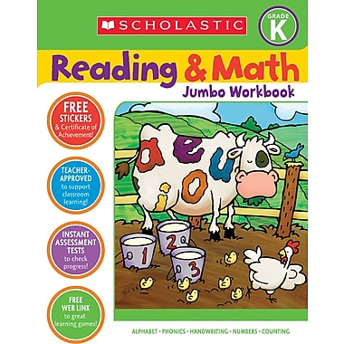 Scholastic Reading & Math Jumbo Workbook Grade K