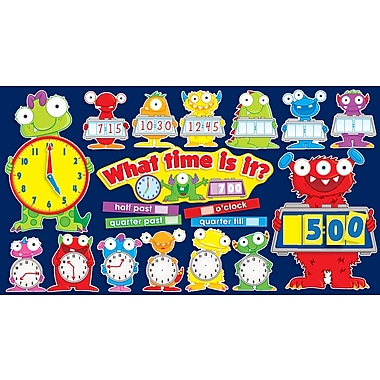 Scholastic Monsters Tell Time Bulletin Board