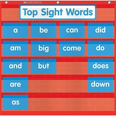 Scholastic Word Wall Pocket Chart