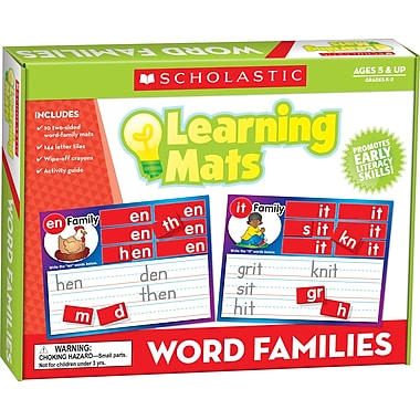 Scholastic Word Family Learning Mats