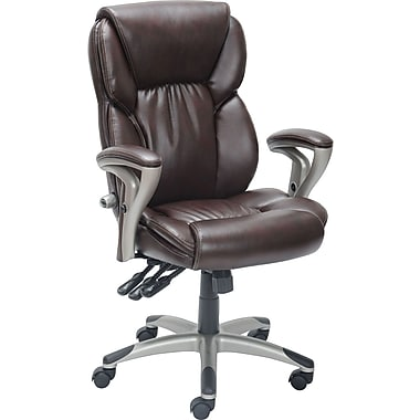 Staples® Serta High Back Managers Chair, Brown