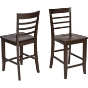 "OSP Designs® Jamestown 24"" Wooden Pub Stools 2 Pk,  Espresso"