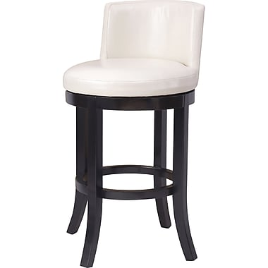 OSP Designs® Metro Bonded Leather Swivel Bar Stool, Cream