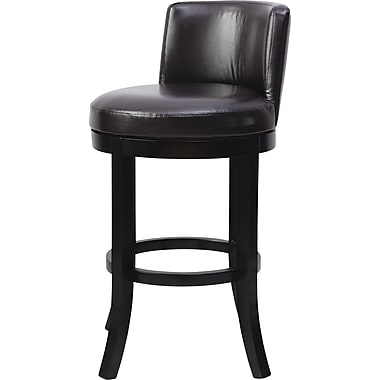 OSP Designs® Metro Bonded Leather Swivel Bar Stool, Espresso