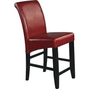"OSP Designs® Metro 24"" Bonded Leather Parsons  Stool, Crimson Red"