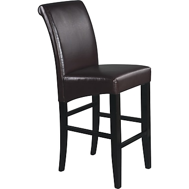 OSP Designs® Metro 30in. Bonded Leather Parsons  Bar Stool, Espresso