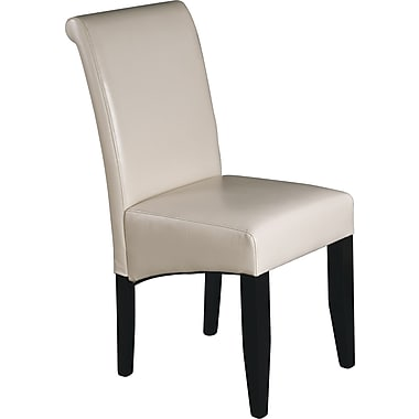 OSP Designs® Metro Bonded Leather Parsons Chair, Cream