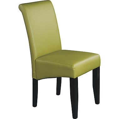 OSP Designs® Metro Bonded Leather Parsons Chair, Kiwi Green