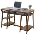 OSP Designs® Computer Trestle Desk, Oak Finish