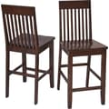 OSP Designs Westbrook 24in. Wooden Pub Stools 2 Pk, Amaretto