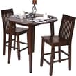 OSP Designs® Westbrook Wooden Pub Stools and Drop-Leaf Table, Amaretto