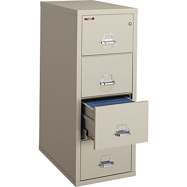 FireKing Patriot 4 Drawer Fire Resistant Vertical File, Putty/Beige,Legal, 20.75''W (4P2131CPA)