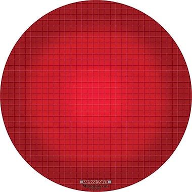 Micro-Thin WOW! Mouse Pad, Round, Red Graphite