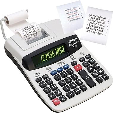 Victor® - Calculatrice à impression thermique 1310, gros caractères, 10 chiffres