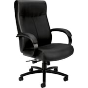 basyx by HON® BSXVL685SB11 VL685 Leather Big & Tall Executive Chair with Fixed Arms, Black