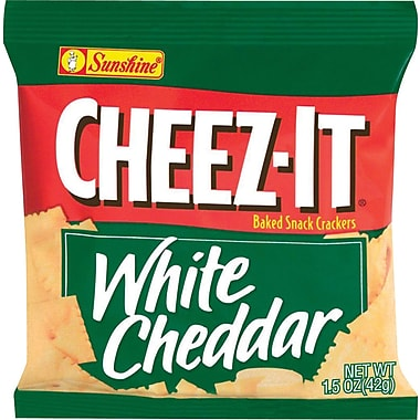 Sunshine® Cheez-It Crackers, White Cheddar, 1.5 oz. Bags, 8 Bags/Box