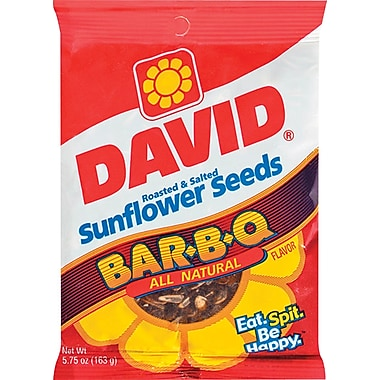 David® Sunflower Seeds BBQ Flavor, 5.25 oz. Bags, 12 Bags/Box
