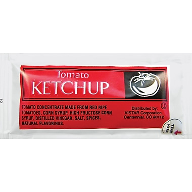 Tomato Ketchup Single Serve Packets, 200/Box