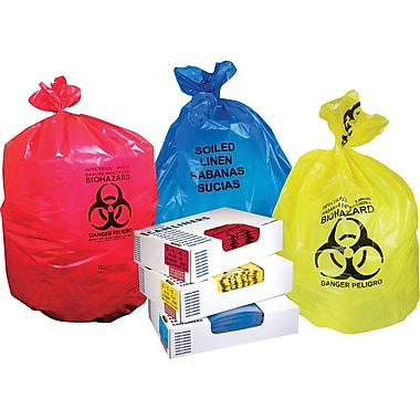 Heritage A4823PR Infectious Red Waste Bag, 8 - 10 Gal