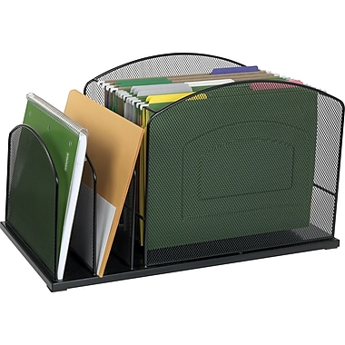Staples Mesh Metal Hanging File Desktop Organizer, 3 Compartments, (21513-CC)