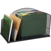 Staples Mesh Metal Hanging File Desktop Organizer, 3 Compartments, (21513-CC)