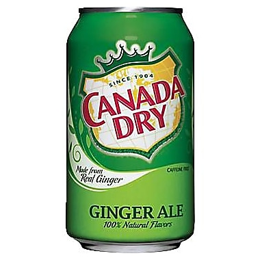 Canada Dry Ginger Ale 355ml Cans, 24-Pack