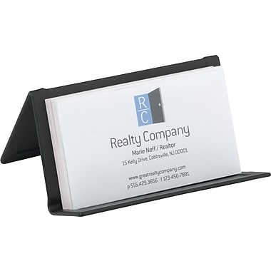 Staples Brushed Metal Business Card Holder (20051-CC)