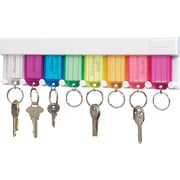 "MMF Industries™ STEELMASTER® Multi-Colored Key Rack, 2 3/4""H x 10 1/2""W x 1/2""D"